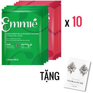 Combo 10 mặt nạ Emmié mix tặng 1 cặp bông tai Floral Punk