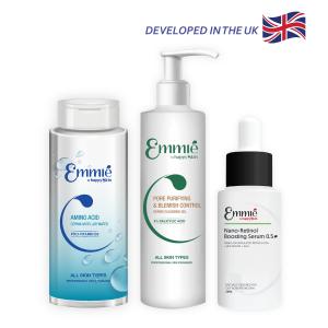 Combo Sạch Mụn Cấp Độ 3: Tinh Chất Retinol Cho Da Dầu Mụn & Nước Tẩy Trang Dịu Nhẹ Với Amino Acid & Pro Vitamin B5 & Gel Rửa Mặt Sạch Sâu và Kiểm Soát Mụn