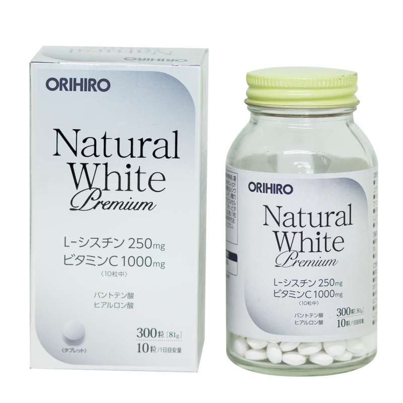 Viên Uống Trắng Da Natural White Premium Orihiro 3...