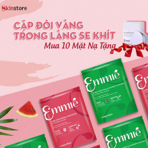 Combo 10 Emmie' Mask + Tặng Cây Lăn Lạnh Hàn Quốc