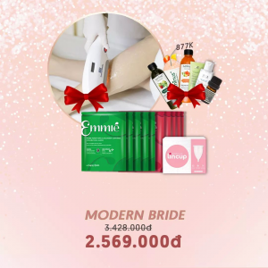 COMBO MORDEN BRIDE (Triệt lông,  10 Mặt nạ Emmie , Lincup)