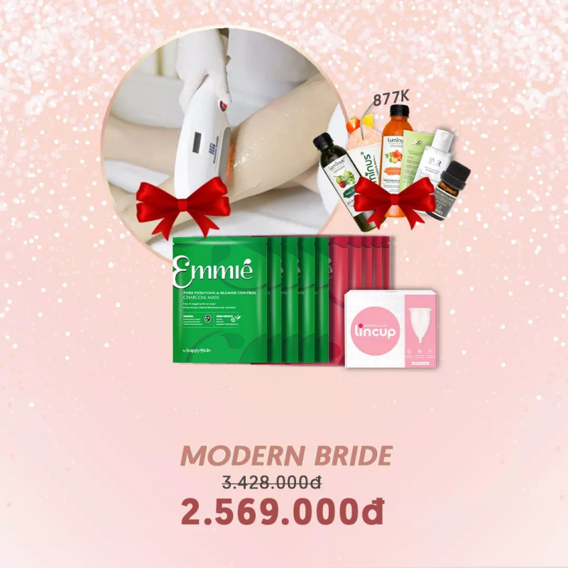 COMBO MORDEN BRIDE (Triệt lông,  10 Mặt nạ Emmie ,...