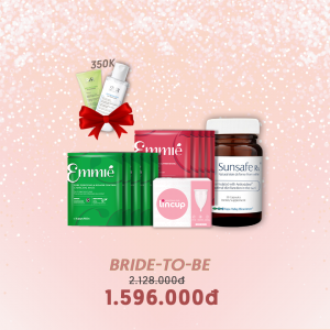 COMBO BRIDE TO BE (10 Mặt nạ Emmie ,Lincup ,Sunsafe 30v)