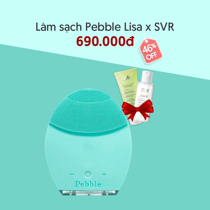 Combo Pebble Lisa, SVR Sebiaclear Gel Moussant 50m...