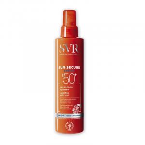 Sản phẩm chống nắng SPF50+ dạng xịt, trong suốt và không gây nhờn da, dành cho mặt và da toàn thân.