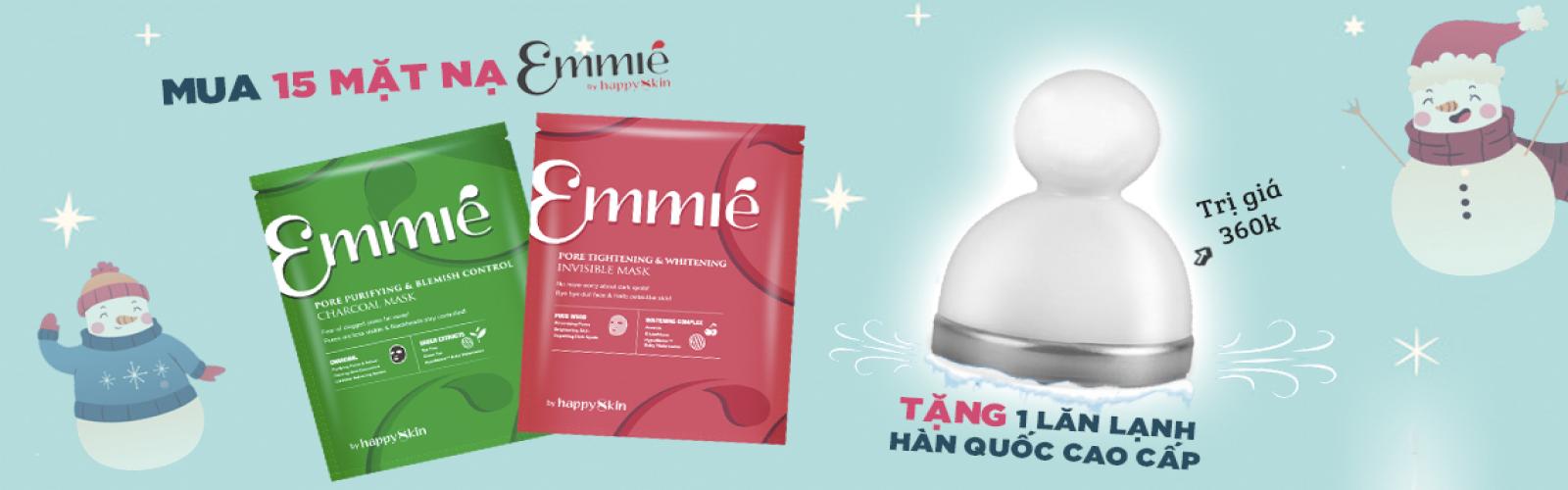 Mua 15 mặt nạ Emmie tặng 1 lăn lạnh Hàn Quốc cao cấp